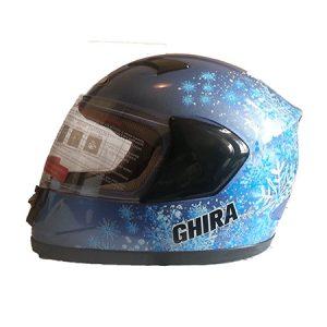 casco integral azul nieve niña