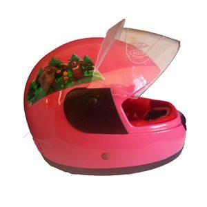 casco integral rosado niña